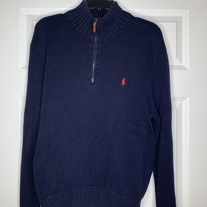 Polo Ralph Lauren Pullover Pima Sweater XL Navy